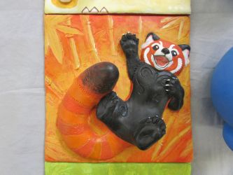 Red Panda Wall Tile by tallydragon