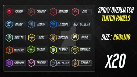 Overwatch Spray - Twitch Panels by lol0verlay