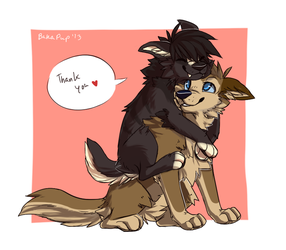 Huggles Fo Youuu  Free Downloadable  By Bakapup-d5 by Fenris0604