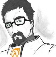 Gordon Freeman tweaked by marvic474