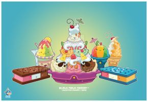 Kawaii Frozen Desserts Group by KawaiiUniverseStudio