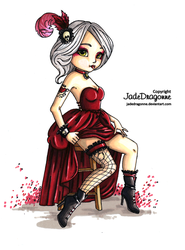 Gothic Pin Up - Colored by JadeDragonne