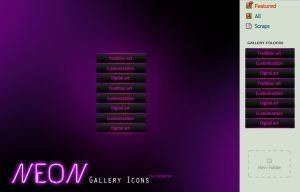 NEON Gallery Icons by CypherVisor