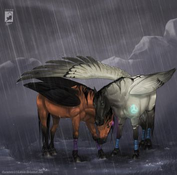 Rainy night by AonikaArt