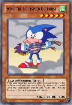 Sonic the Lightspeed Guitarist by JBlaser