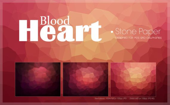 Blood Heart Stone Paper Pack by amadis33
