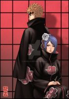 Pein and Konan by Roggles