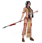 Squaw PNG Stock by Roy3D