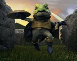 Chrono Trigger's Frog by BenCole