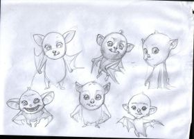 baby bats by catalinianos