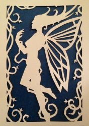 Paper-cut faerie 1 by metatherion1