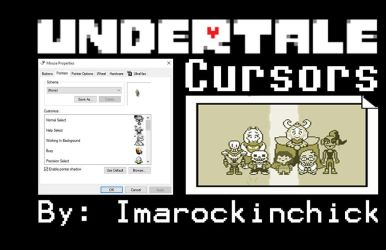 Undertale Cursors by PhobiasWorld101