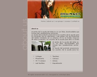 Brainnet Web comp by fluidbrush