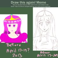 Meme    Before and After    Princess Bubblegum by xX-KiyomiHime-Xx