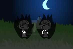 (walfas) Dark Godeung(old) and Dark Godeung (new) by Godeung