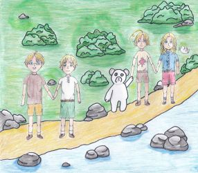 F.A.C.E. Family on Casual Summer Hike by outlire