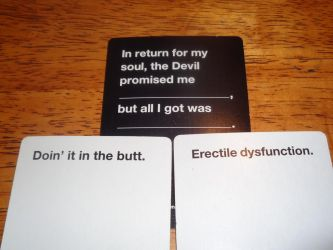 Cards Against Humanity Dual combo by MrKeybladeMaster1992