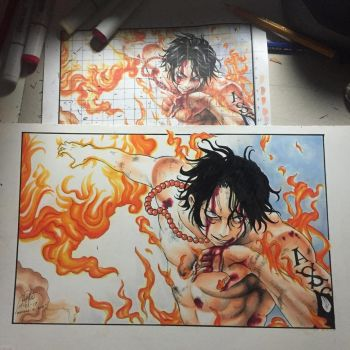 Portgas D. Ace by 111208K