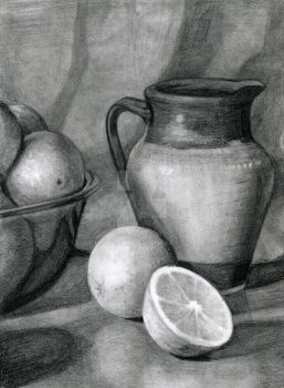 Fruit And Vase by Pilly-Pat