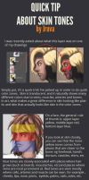 quick tip: face's color zones by Jruva