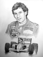 The Late Great Ayrton Senna by willow1