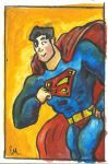 Water Color Superman! by TheInsaneDingo