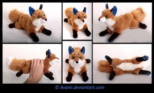 Plushie Commission: Fox by Avanii