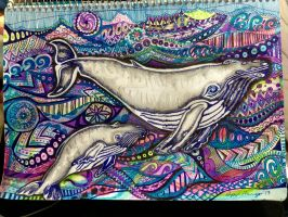 Humpback Whale Oddessy by LirpaMck