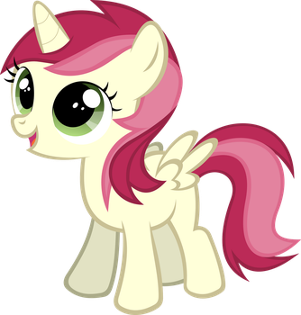Filly Alicorn Roseluck by videogamesizzle