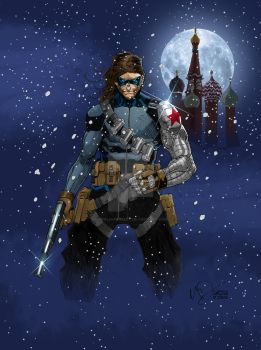 DAILY ART POST - AVENGERS MONTH - WINTER SOLDIER