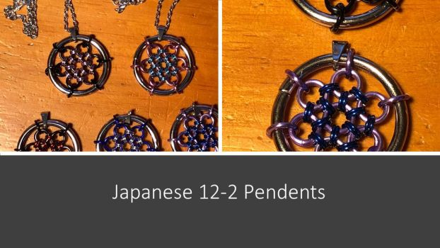 Japanese 12-2 Pendents by graywolfsmaille