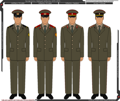 Soviet Army Walkout Uniforms 1970-1973 by Grand-Lobster-King