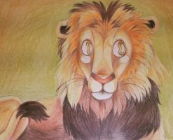 lion drawing!  :D by lizzardblackrose