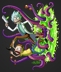 Rick and Morty - Portal Problem by Sawuinhaff