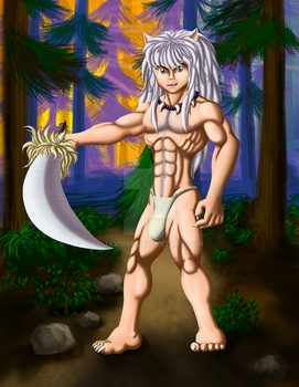 Inuyash in da forest by JAV1966