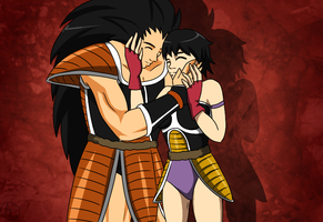 [Commission] Raditz and Canna by AmyEmerald