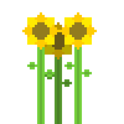 Pixel Sunflowers by CaptainToog