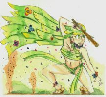 Character highlight: Mother nature [Water color] by MidnightDJ-SK