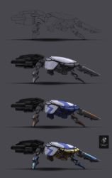 Aculeus spacefighter -- stages by YairMor