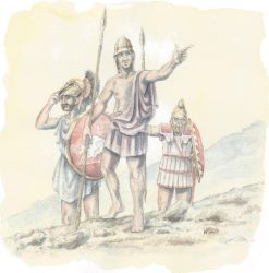Hoplites in Northern Africa by Curundil