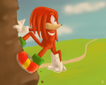 One Hour Sonic: Knuckles by Mitzy-Chan