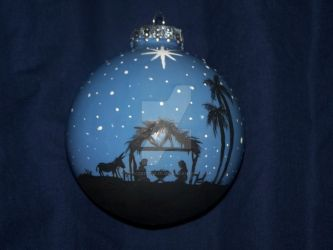 The Nativity Christmas Ornament by Peacekeeperj3low