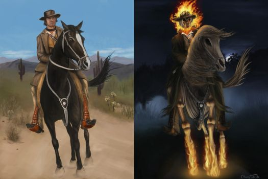 Commission: Morphing Cowboy by Jorsch