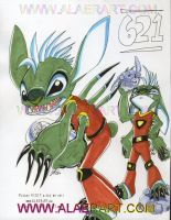Lilo + Stitch 621 in Color by alaer