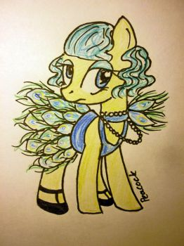 Peacock pony by Fortitudine-Shelter