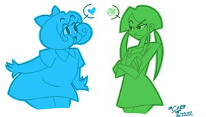 drew these buttfaces again by GrumpyTheUnicorn