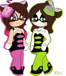 [Collab] Squid Sisters cosplay  by SquickWeeb
