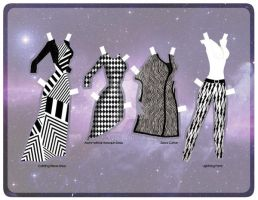 Black and White Tour Outfits [Paper] by razzysri