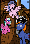 Barnacle's Adventure: Pony Pirates by Moonlightfan