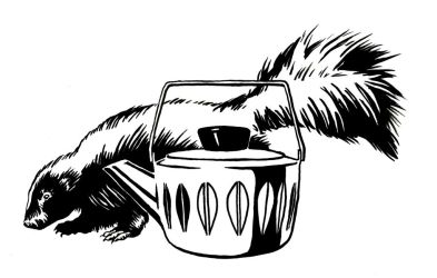 Skunk and Teapot by mlauritano